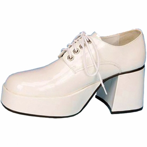 Shoe Platform Wht Pat Men Md Costume