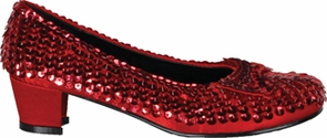 Shoe Sequin Rd Child Md Costume