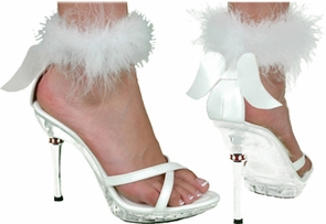 Shoe Sexy Angel Wht Wmn Lg Costume
