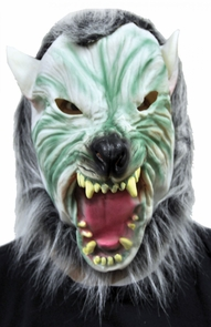 Silver Wolf With Hair Mask Costume
