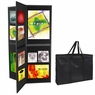 Six-Sided Folding Panel Display Board Black