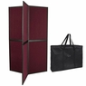 Six-Sided Folding Panel Display Board Burgundy