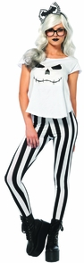 Skeleton Hipster Adult Small Costume
