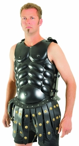 Skirted Muscle Armor Black Costume