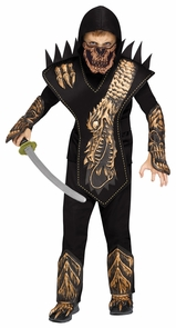 Skull Dragon Ninja Ch Gold Lg Costume