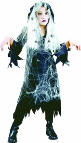 Spiderweb Gauze Ghost Ch Lg Costume
