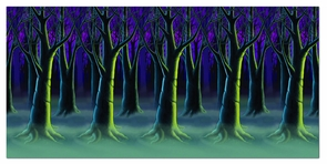 Spooky Forest Trees Backdrop Costume