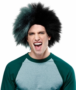 Sports Fun Wig Green Black Costume