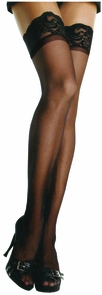 Sheer Lycra Stay-up Thigh-highs Costume