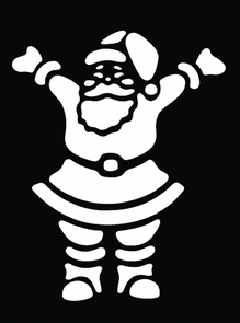 Stencil Happy Santa Brass Costume