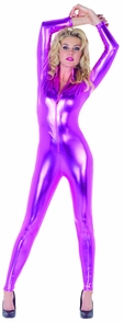 Stretch Jumpsuit Fuchsia Small Costume