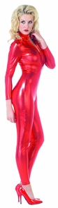Stretch Jumpsuit Red Large Costume
