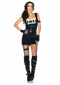 Sultry Swat Officer Bk Xsmall Costume