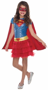 Supergirl Tutu Dress Child Sma Costume