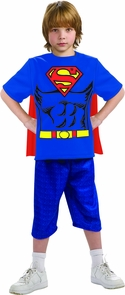 Superman Child Shirt Cape Md Costume