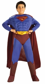 Superman Muscle Chest Chld Lg Costume