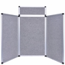 Tabletop Folding Panel Display 3 Panels with Header 6' Gray