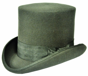 Tall Hat Grey Medium Costume
