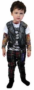 Tattoo Long Sleeve Youth Lg Costume
