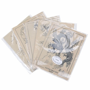 "Tattoo Supplies Pre-printed Practice Skin 5 Pack 6""x8"""