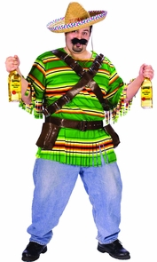 Men's Plus Size Tequila Pop N' Dude Costume