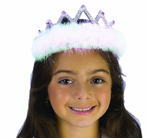 Tiara Marabou White Diamond Costume