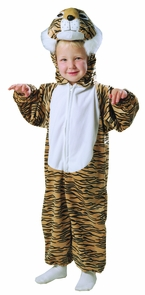 Tiger Striped Plush 1 To 2 Costume