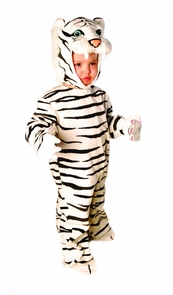 Tiger White Plush 2t-4 Toddler Costume