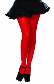 Tights Adult Red 1 Size Costume