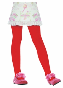 Tights Child Red Lrg 7 To 10 Costume