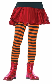 Tights Chld Striped Bkor 11-13 Costume