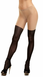 Tights Sheer Lace-up Nude/blk Costume