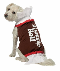 Tootsie Roll Dog Costume Med Costume