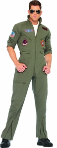 Top Gun Jumpsuit Men Ex Lg Costume