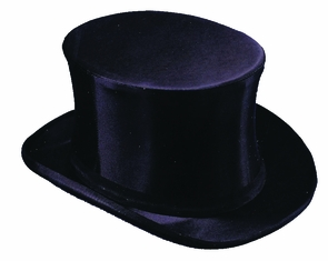 Top Hat Bk 7 5/8 Costume