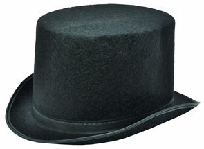 Top Hat Black Felt Large Costume