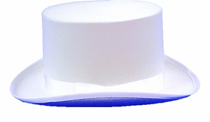 Top Hat Felt White Medium Costume