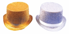 Top Hat Lame Silver Costume