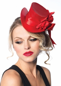 Top Hat Mini Satin Red Costume