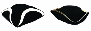 Tricorn Hat Qual Medium Costume
