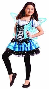 Turquoise Fairy Child 12-14 Costume