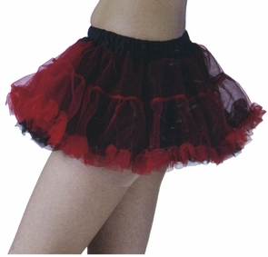 Tutu Skirt Black/red Costume