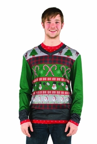 Ugly Christmas Candy Canes Xl Costume