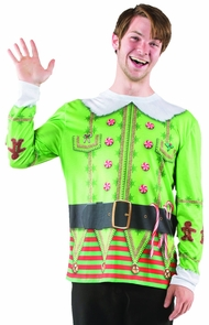 Ugly Christmas Elf Sweater Md Costume