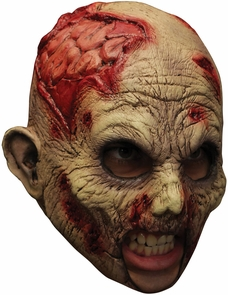 Undead Chinless Latex Mask Costume