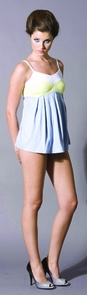 V Neck Cami Dove Blue Large Costume