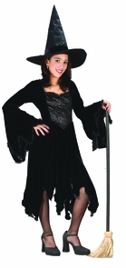 Velvet Witch Blk Child Small Costume