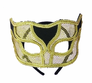 Ven Mask Netted Gold Costume