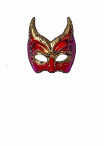 Ven Mask Red Gold Points Costume