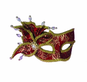 Ven Mask Red&gold W Pearl Costume